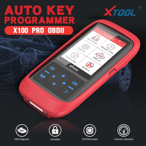XTOOL X100 PRO2 X100 PRO 2 OBD2 Auto Key Programmer/Mileage Adjustment with EEPROM Adapter