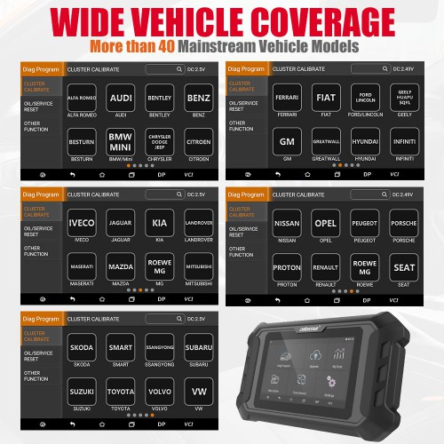 (Livraison UE sans taxe ) 2019 New OBDSTAR ODOMASTER X300M+ Including Mileage Correction+OBDII Diagnosis+ Oil Reset Replace X300 M