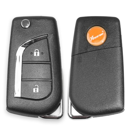 XHORSE XKTO01EN Universal Remote Key for Toyota 2 Buttons for VVDI Key Tool, VVDI2 (English Version) 5pcs/Lot