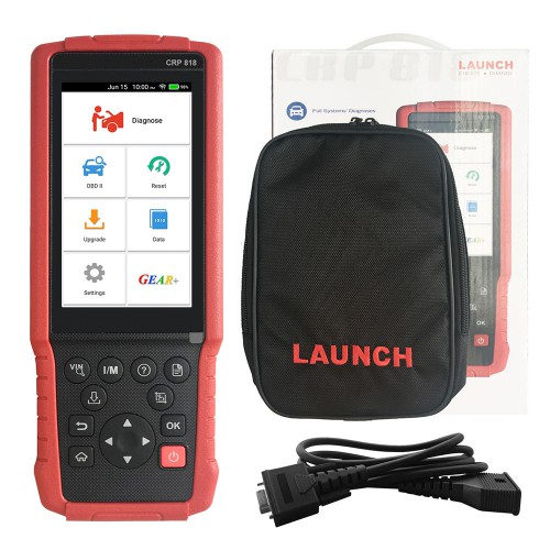 Launch CRP818 Full System OBD2 Diagnostic Tool for Oil reset/TPMS reset/EPB reset/BMS reset/Injector programming pour European Models