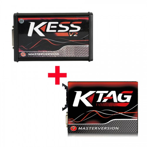 Hot-Seller Kess V2 V2.47 EU Version Plus V2.25 V7.020 KTAG PCB Rouge avec 4 LED