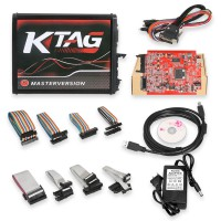 【Livraison UE sans taxe】Ktag SW 2.23 Firmware V7.020 Car Truck Tract Boat Master Version ECU Programmer with Token Renew Button