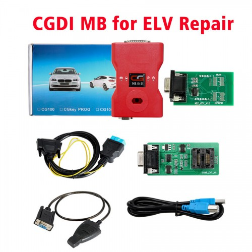 CGDI Prog MB Benz Key Programmer with ELV Repair Adapter