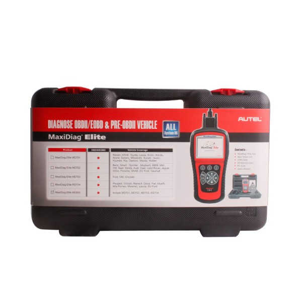 Original Autel MaxiDiag Elite MD802 all system+DS model(MD701+MD702+MD703+MD704)