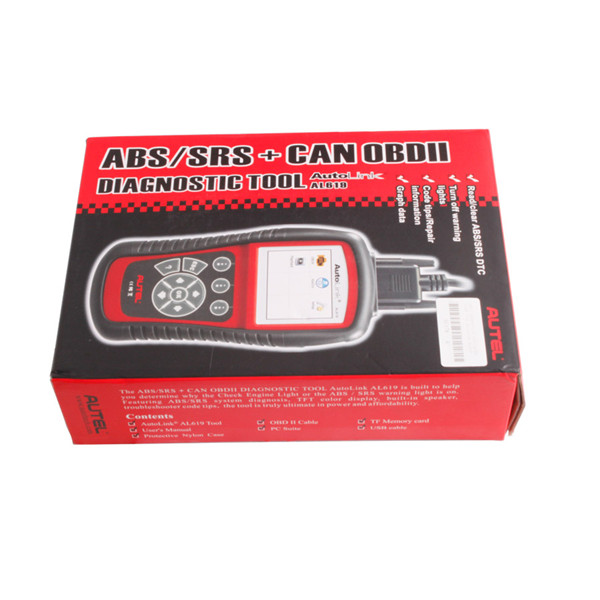 ABS/SRS + CAN OBDII DIAGNOSTIC TOOL AutoLink AL619