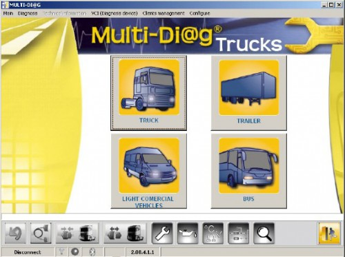 Francais Version MULTI-DIAG TRUCK Bluetooth Heavy Duty Diagnostic Tool