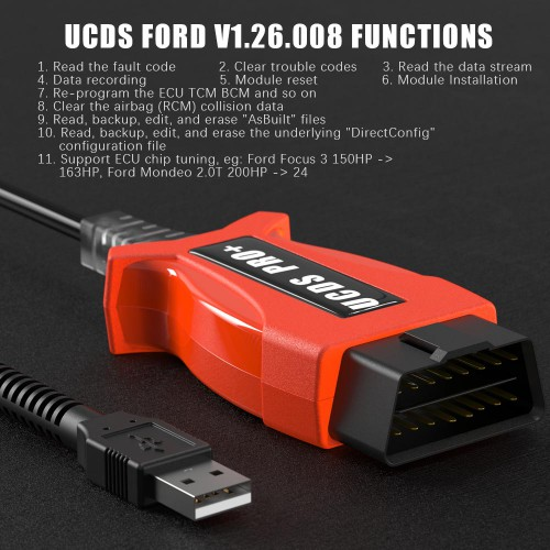 V1.26.008 Ford UCDS Pro+ Ford UCDSYS with UCDS Full License Software With 35 Tokens