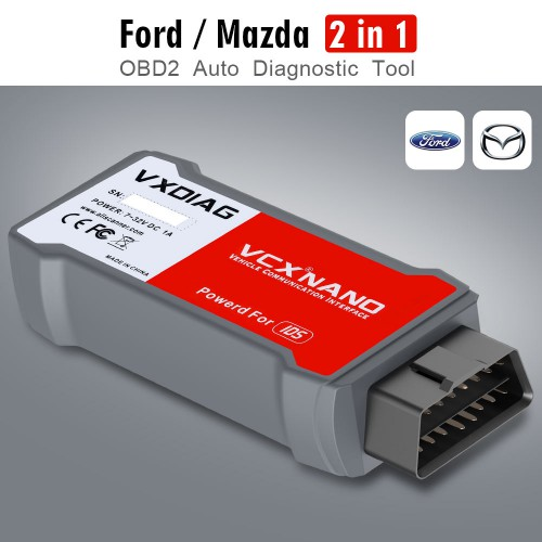(Livraison UE) VXDIAG VCX NANO for Ford/Mazda 2 in 1 with IDS V118 and Mazda V118 Soutien de l'année 2005-2018 Replacement of Ford VCM II