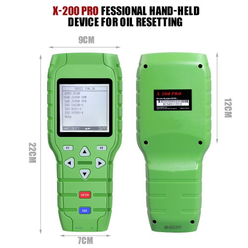 Handheld Device Auto X-200 Oil Reset Tool (A+B) Type
