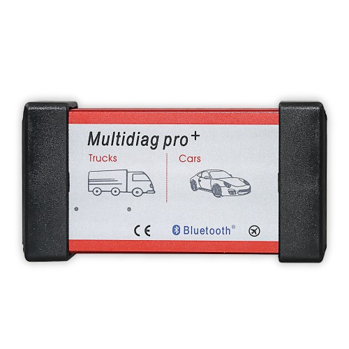 V2014.03 Low Cost New Design Bluetooth Multidiag Pro+ for Cars/Trucks and OBD2 with 4GB Memory Card with Plastic Box