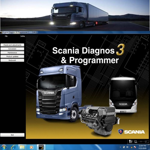 Newest SDP3 V2.44 Software for SCANIA VCI2 VCI3 without USB Dongle
