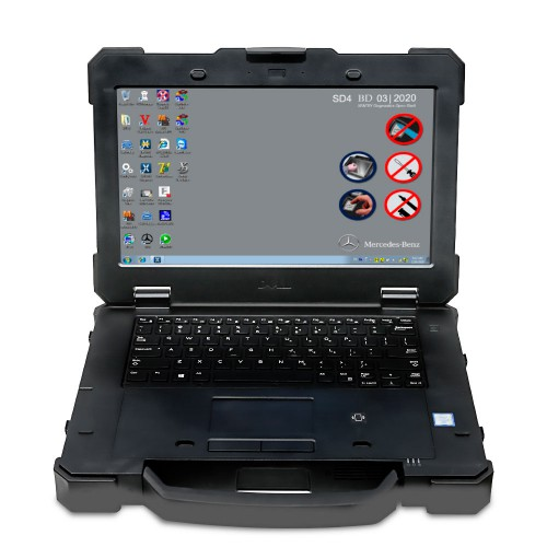V2020.9 Nouveau DOIP SDconnect C4 Plus Second Hand DELL 7414 Laptop With Touch Screen