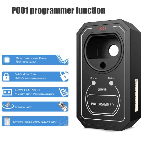 OBDSTAR P001 Multifunctional Programmer avec EEPROM/RENEW Key/RFID Adapter Full Package Get Free Toyota simulated smart keys