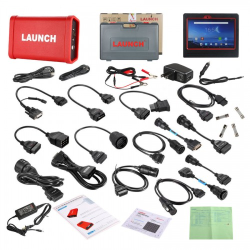 100% Original Launch X431 V+ Wifi/Bluetooth Plus HD Heavy Duty Truck Diagnostic Module (2-in-1Set) SP184-C Instead