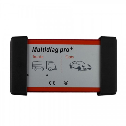 V2014.03 Low Cost New Design Multidiag Pro+ for Cars/Trucks and OBD2 without Bluetooth