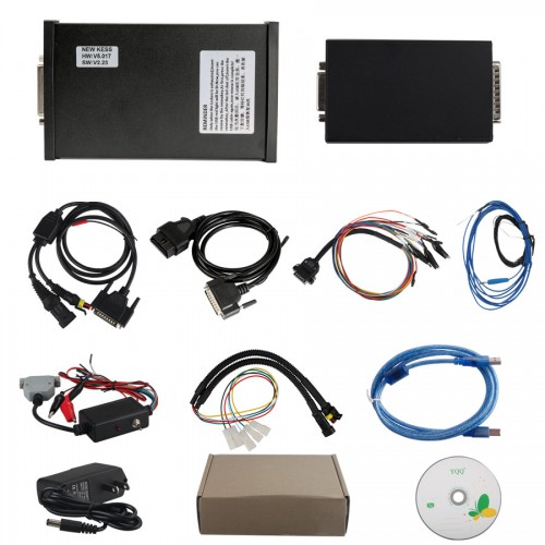 V2.47 KESS V2 Firmware V5.017 Fully Activated for Car Bike Truck Tractor ECU Programming No Tokens Limitation