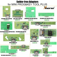 (4% off 504€) Xhorse Solder-free Adapters for MINI PROG & KEY TOOL PLUS