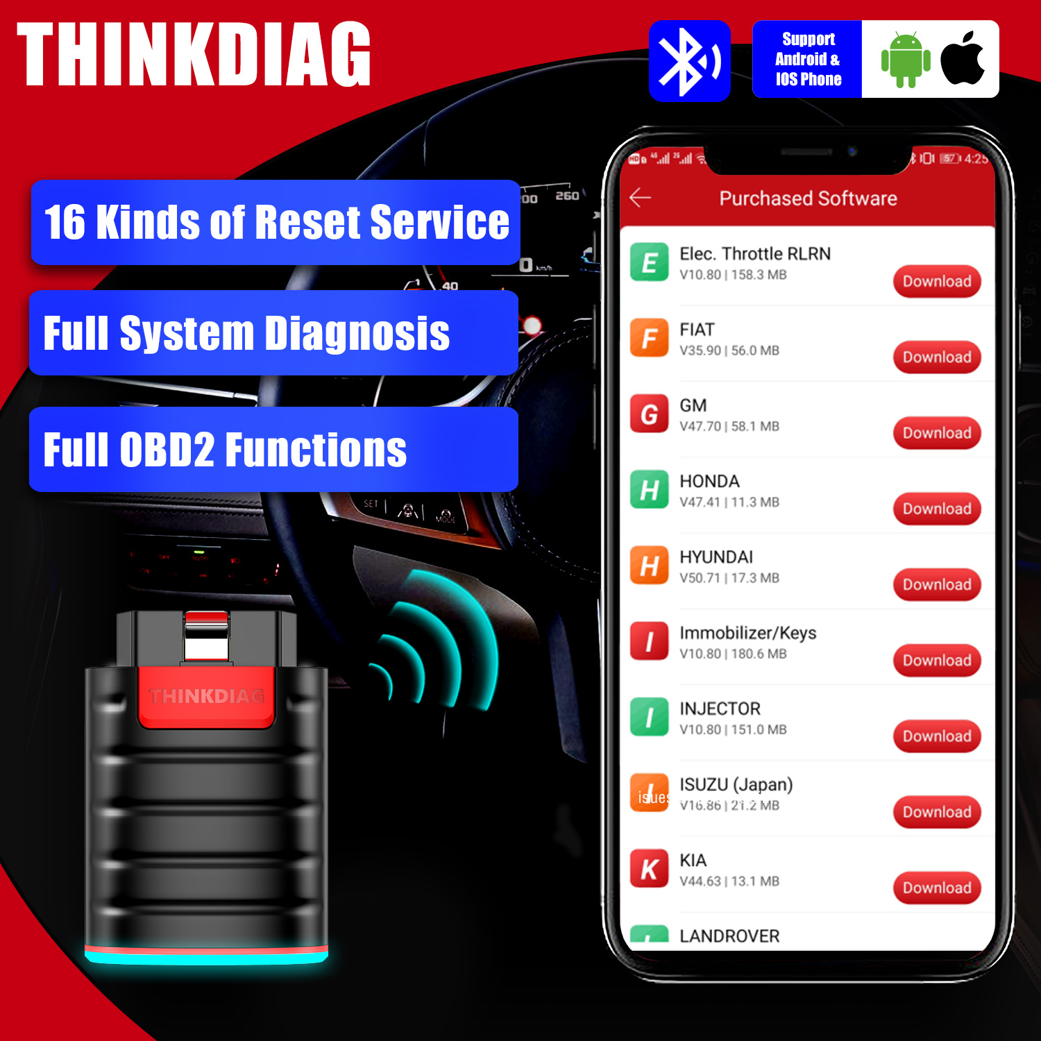 thinkdiag obd2 full system